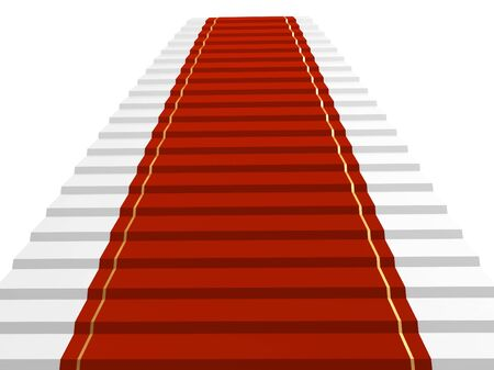 Conceptual 3d image - red carpet  photo