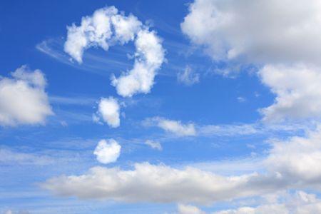 whose: Nube en forma de un signo de interrogaci�n