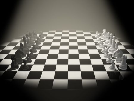 3d chess on a board photo