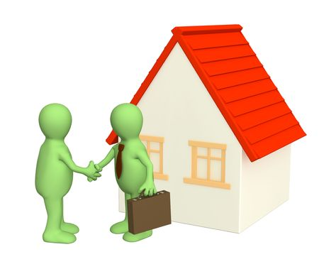 Conclusion of the contract on purchase of a house photo