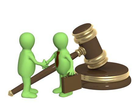 Conceptual image - successful decision of a legal problem photo