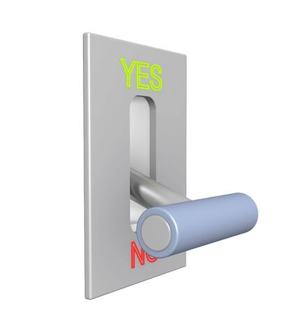 3d lever on position no Stock Photo - 4728942