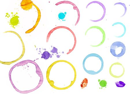 spilling: Stain of paint on sheet of paper