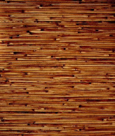 Texture - bamboo mat of brown color photo