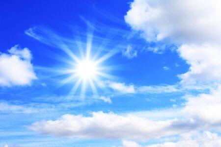 Bright sun in the blue sky Stock Photo - 4756200