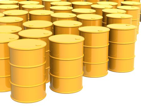 Many tanks of yellow color. Objects over white Stock Photo - 4771952