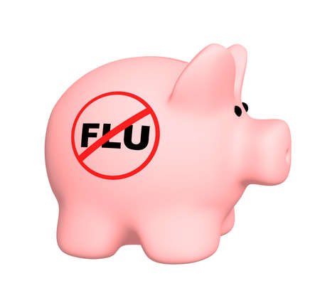 Conceptual image - stop of a swine flu photo