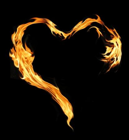 quemadura: Llama brillante en forma de coraz�n
