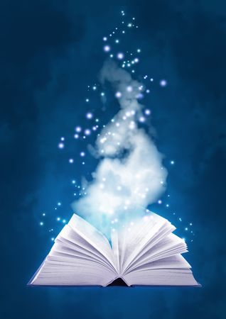 cuatro elementos: Conjunto - los libros de cuatro elementos. Libro de magia de aire