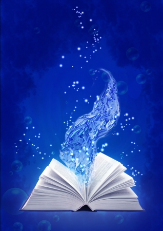 Set - books of four elements. Book of water magic