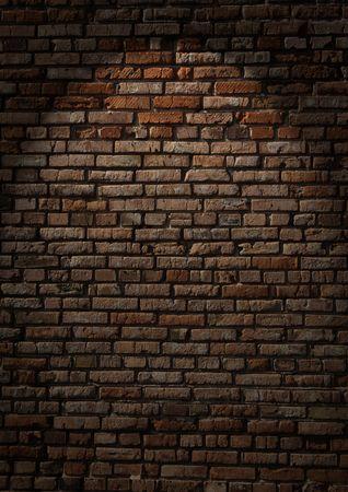 pared iluminada: Textura de pared de ladrillo antiguo