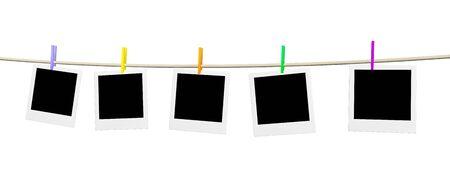 blanks: Background - five empty blanks of photo  Stock Photo