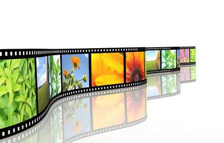 Background - 3d abstract photographic film Stock Photo