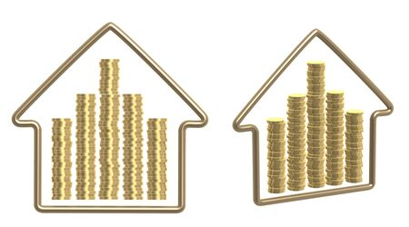 habitation: Conceptual image - money for purchase of habitation