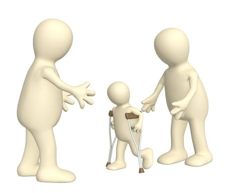 Family with the child - invalid Stock Photo - 4998468