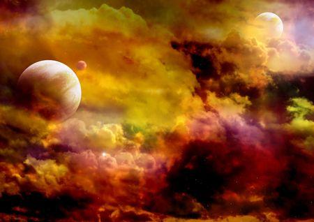 Illustration - a fantastic beautiful galaxy Stock Illustration - 4998514