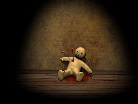 to pierce: Dark series - voodoo doll, pierced with pins