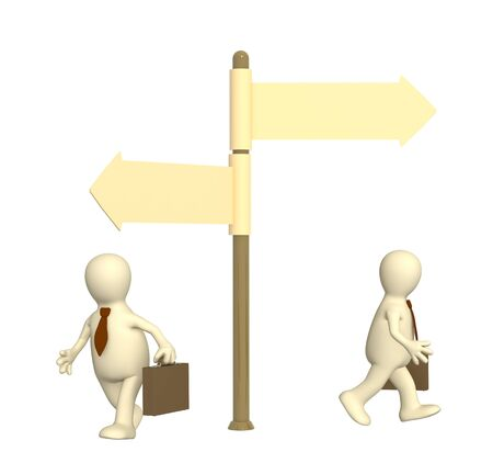 farewell: Conceptual image - different direction in business