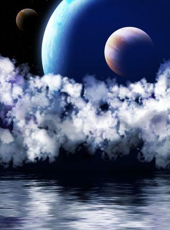 Illustration - a fantastic beautiful galaxy Stock Illustration - 5115870