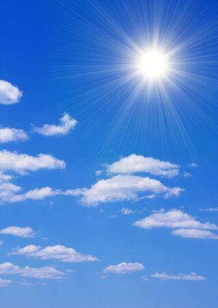 Bright sun in the blue sky Stock Photo - 5191252