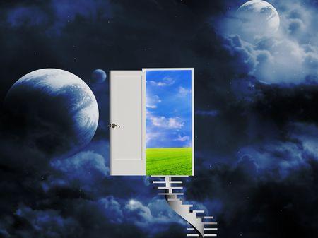 Door open in the real world Stock Photo - 5191291