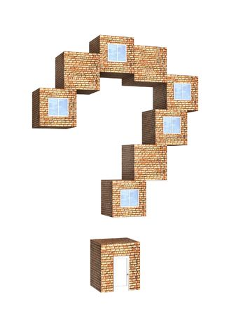 House in the form of a question mark Stock Photo - 5240561