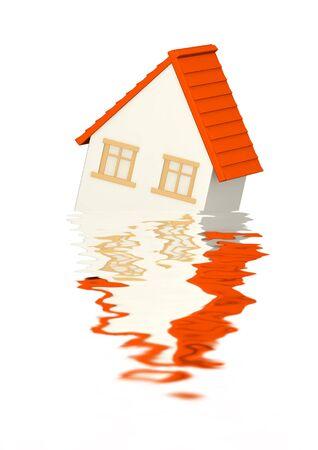 Conceptual image - mortgage recession photo