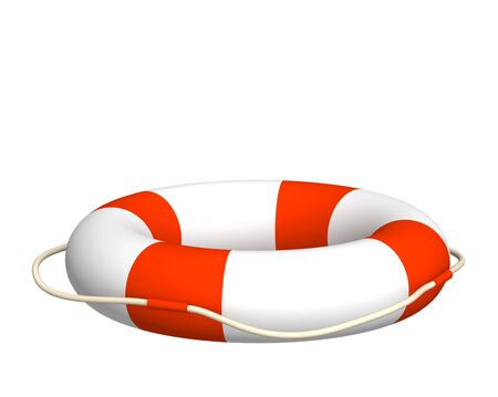 lifebuoy: The 3d lifebuoy - object over white