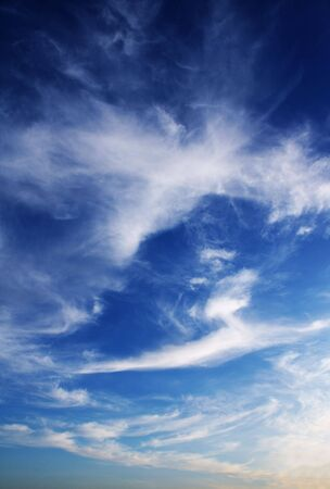White clouds in the blue sky Stock Photo - 5298188