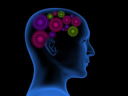 Conceptual 3d image - thought process Stock Photo - 5298193