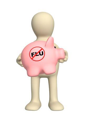 Conceptual image - stop of a swine flu Stock Photo - 5377724