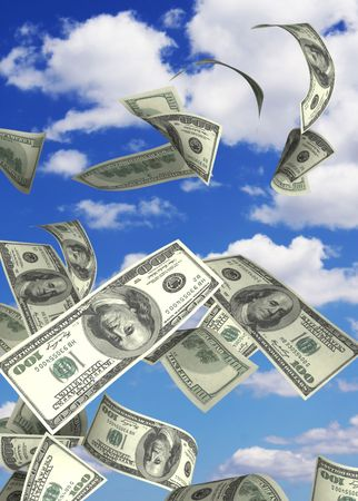 Conceptual image - financial losses photo