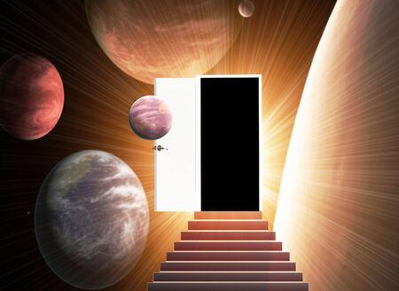 Door open in the alien world Stock Photo - 5603337