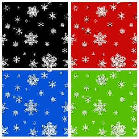 Set - seamless Christmas backgrounds photo