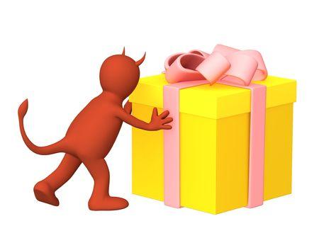 meanness: Conceptual image - devil gift