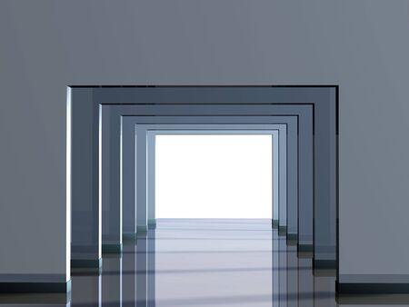 lighting column: Conceptual image - a way to light Stock Photo