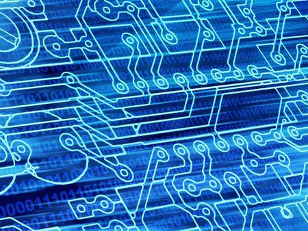 Blue background with Internet symbols Stock Photo - 5738045