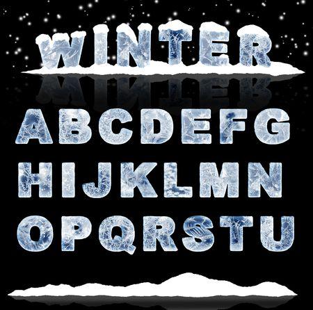 lettre de l alphabet: D�finir - lettres de glace. Partie 1
