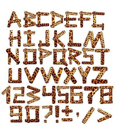Alphabet in style of a safari Stock Photo - 5868601