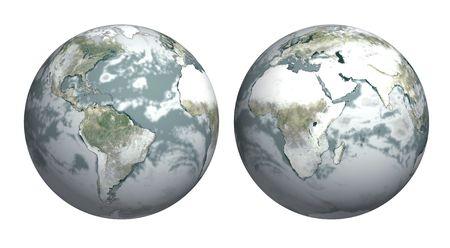 eiszeit: Ice Age - Erde, die mit Schnee bedeckt Lizenzfreie Bilder
