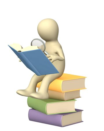 Information search in the books photo