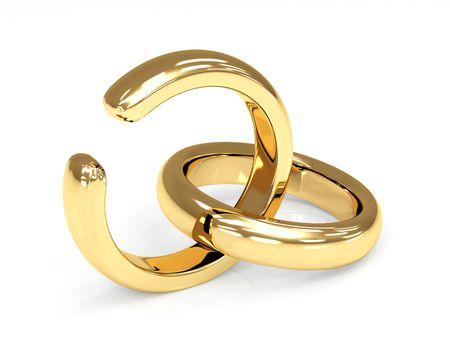 Symbol of divorce - broken wedding ring Stock Photo - 5910742