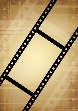 photography backdrop: Grunge background - symbolical the image of a film Stock Photo