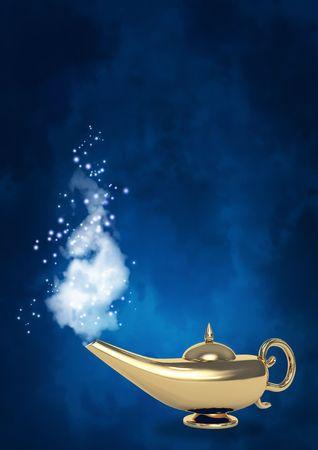 Symbol performance of desires - magic lamp Stock Photo - 5936071