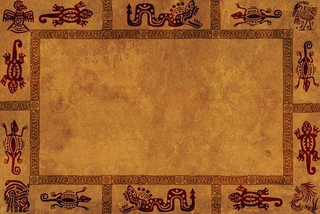 cultura maya: Fondo con los patrones nacionales de indios americanos Foto de archivo