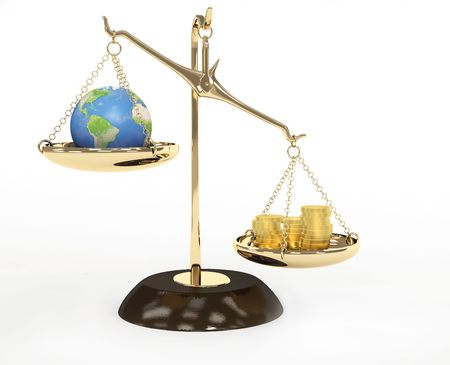 unequal: Concept - Earth and money on measurement scales