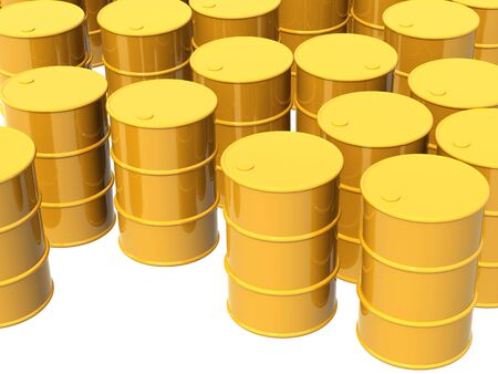 Many tanks of yellow color. Objects over white Stock Photo - 5965250