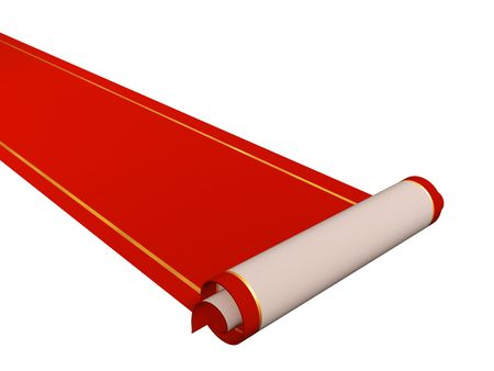 Conceptual 3d image - red carpet  Stock Photo - 5965008