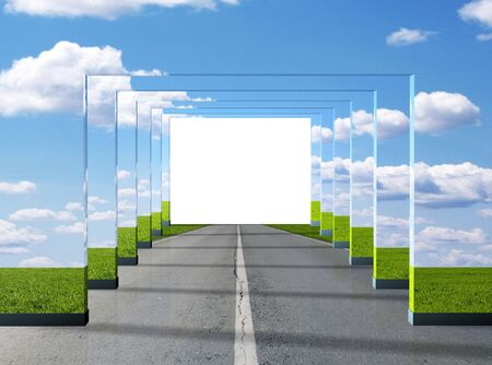 3d mode: Road illusion - 3d render illustration Stock Photo