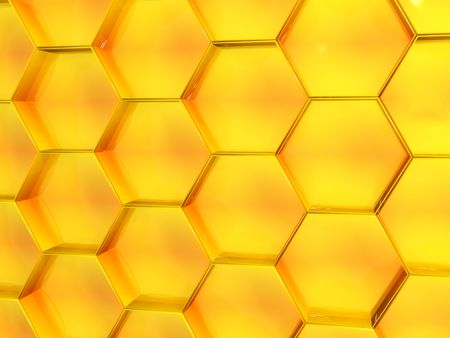 Background - honeycomb of yellow color photo